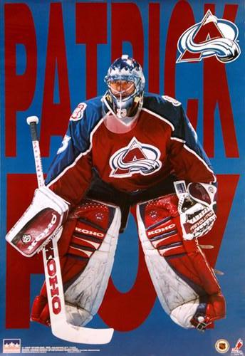 "Patrick Roy ""Avalanche Action"" Colorado Avalanche Hockey Poster - Starline 1997"