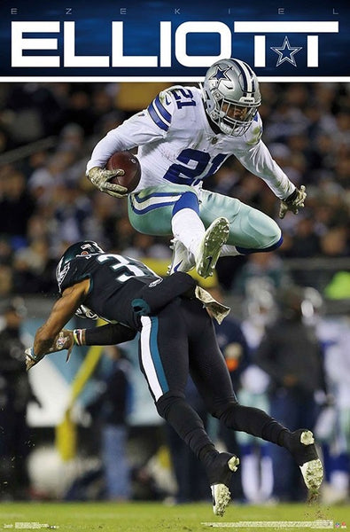 "Ezekiel Elliott ""Airborne"" Dallas Cowboys NFL Action Wall Poster - Trends International 2019"