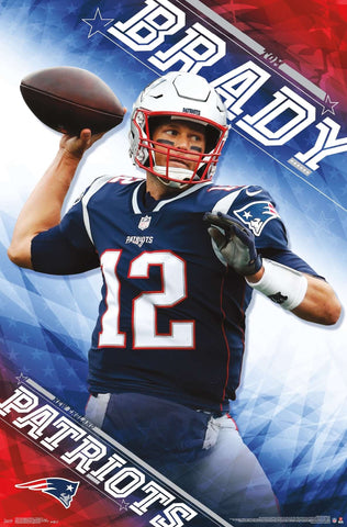 "Tom Brady ""Patriot Perfection"" New England Patriots Official NFL Football Wall Poster - Trends International"
