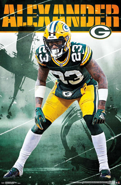 "Jaire Alexander ""Staredown"" Green Bay Packers NFL Action Poster - Trends International"