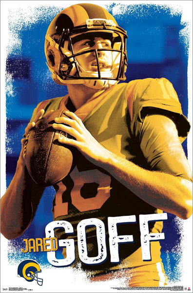 "Jared Goff ""Golden Star"" Los Angeles Rams QB NFL Action Wall Poster - Trends International"