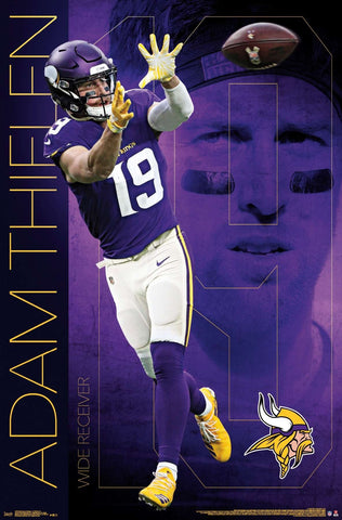 "Adam Thielen ""Superstar"" Minnesota Vikings NFL Action Wall Poster- Trends International"