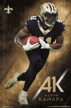 "Alvin Kamara ""AK-41"" New Orleans Saints Running Back NFL Action Wall Poster - Trends International"