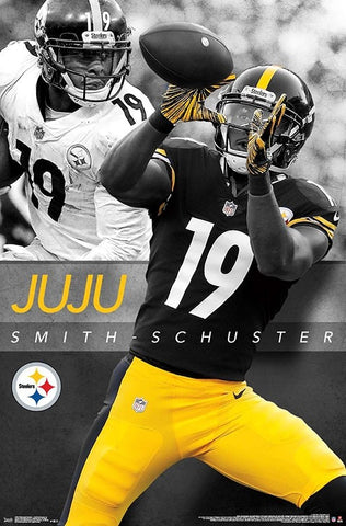 "JuJu Smith-Schuster ""Superstar"" Pittsburgh Steelers Official NFL Football Action Poster - Trends International"