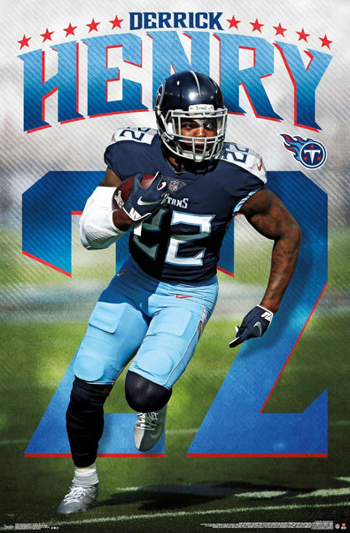 "Derrick Henry ""Superstar"" Tennessee Titans Running Back Action NFL Football POSTER - Trends International"