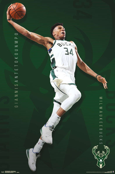 "Giannis Antetokounmpo ""PowerSlam"" Milwaukee Bucks Official NBA Basketball Action POSTER - Trends 2019"