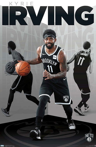 "Kyrie Irving ""Basketball Genius"" Brooklyn Nets NBA Basketball Action Poster - Trends 2019"