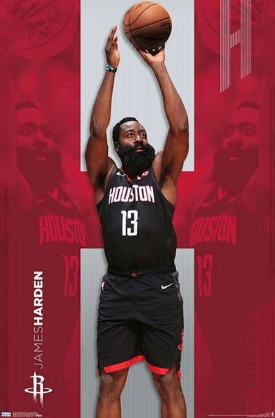 "James Harden ""Shooting Star"" Houston Rockets NBA Basketball Poster - Trends International 2019"