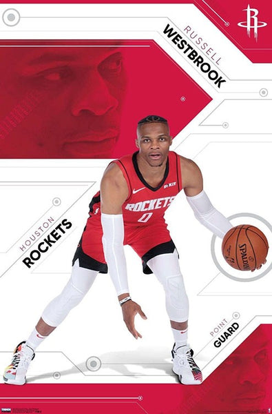 "Russell Westbrook ""Rocket Launch"" Houston Rockets NBA Basketball Poster - Trends International 2019"