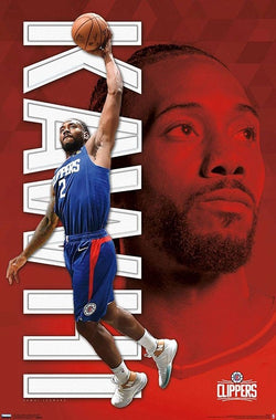 "Kawhi Leonard ""LA Slam"" Los Angeles Clippers NBA Basketball Action Poster - Trends 2019"