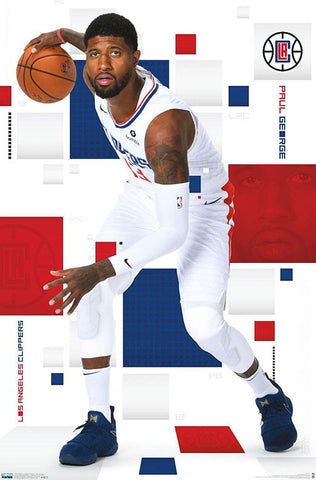 "Paul George ""LA Star"" Los Angeles Clippers NBA Basketball Action Poster - Trends 2019"