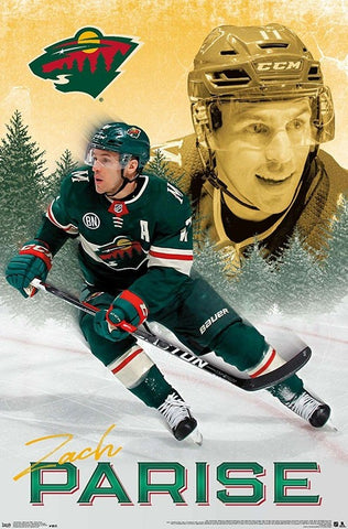 "Zach Parise ""Superstar"" Minnesota Wild Official NHL Hockey Action Wall Poster - Trends International"