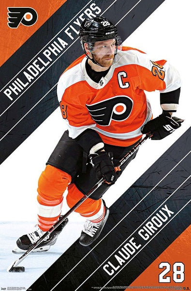 "Claude Giroux ""The Captain"" Philadephia Flyers NHL Action Poster - Trends International"