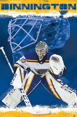 "Jordan Binnington ""Stopper"" St. Louis Blues Goalie Official NHL Hockey Poster - Trends International"