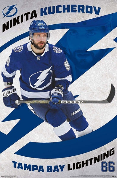 "Nikita Kucherov ""Superstar"" Tampa Bay Lightning Official NHL Action Poster - Trends 2019"