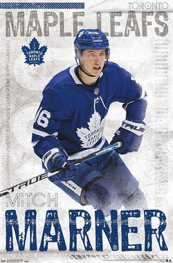 "Mitch Marner ""Superstar"" Toronto Maple Leafs Action Official NHL Wall POSTER - Trends 2019"