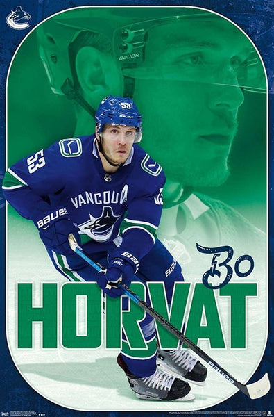 "Bo Horvat ""Superstar"" Vancouver Canucks NHL Action Poster - Trends International 2019"