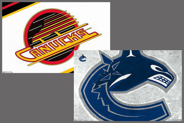 Vancouver Canucks Official NHL Hockey Team Logo Poster Combo Set (2) - Trends International