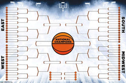 NCAA March Madness Basketball Championships Fill-In Brackets 64-Team Field Poster - Trends Int'l.