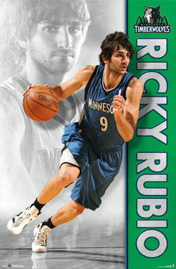 "Ricky Rubio ""Dynamo"" Minnesota Timberwolves Poster - Costacos Sports"
