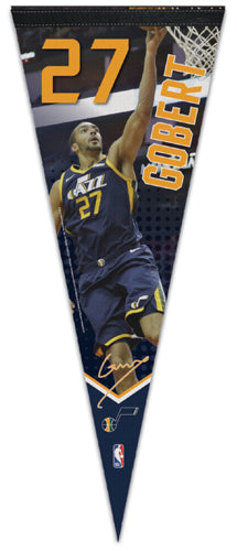"Rudy Gobert ""Signature Series"" Utah Jazz Premium NBA Felt Collector's PENNANT - Wincraft 2019"