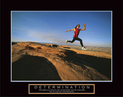 "Women's Running ""Determination"" Motivational Poster - Front Line"