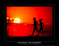 "Running ""Sharing the Passion"" Motivational Poster - SportsPosterWarehouse.com"