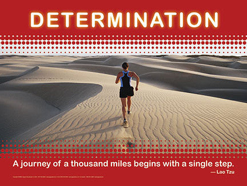 "Running ""Determination"" Motivational Inspirational Poster - Jaguar Inc."