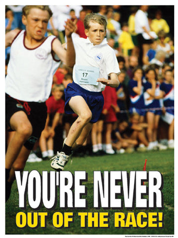 "Cross-Country Running ""You're Never Out of the Race"" Motivational Poster - Fitnus"