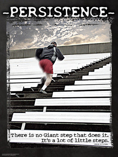"Running ""Persistence"" (Stair Training) Motivational Poster - Jaguar Inc."