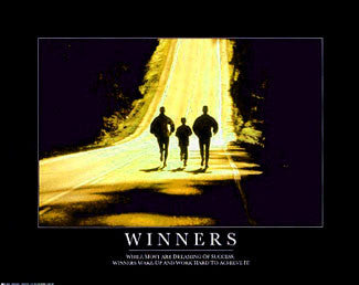 "Running ""Winners"" (Running Family) Motivational Poster - Angel Gifts"