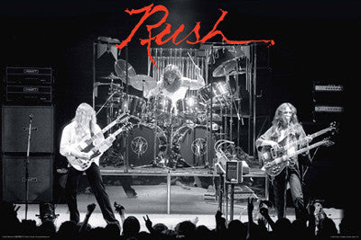 "Rush ""1978 Live"" Rock Concert Action Music Poster - Aquarius Images"