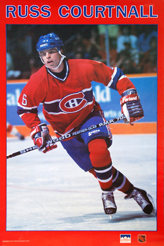 "Russ Courtnall ""Habs Action"" Montreal Canadiens NHL Hockey Poster - Starline 1989"