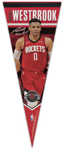 "Russell Westbrook ""Signature Series"" Houston Rockets 2019 NBA Premium Felt Collector's Pennant - Wincraft"