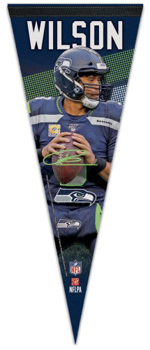 Russell Wilson Signature Series QB Action Seattle Seahawks NFL Football Premium Felt Pennant - Wincraft 2019
