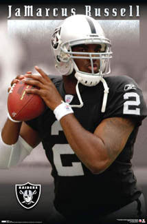 "JaMarcus Russell ""Action"" Oakland Raiders Poster - Costacos 2007"