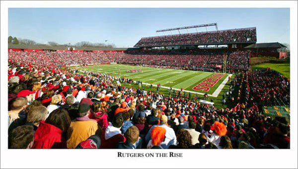 "Rutgers Scarlet Knights Football Gameday ""Rutgers on the Rise"" Stadium Poster Print"
