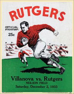 Rutgers University Football 1933 Vintage Program Cover Poster Print - Asgard Press