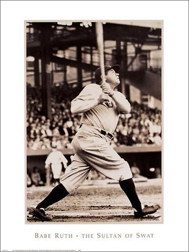 "Babe Ruth ""The Sultan of Swat"" (c.1929) New York Yankees Premium Wall Poster - NYGS"