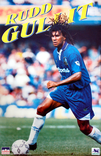 "Ruud Gullit ""Super Action"" Chelsea FC EPL Football Poster - Starline 1995"