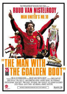 "Ruud Van Nistelrooy ""Goalden Boot"" Manchester United FC Poster - GB Posters 2003"