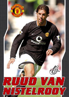 "Ruud Van Nistelrooy ""Road Warrior"" Manchester United FC Poster - GB 2003"