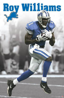 "Roy Williams ""Big 11"" Detroit Lions Poster - Costacos 2007"