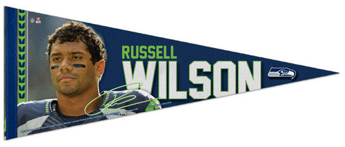 "Russell Wilson ""Hero"" Seattle Seahawks Premium Felt Collector's Pennant - Wincraft 2014"
