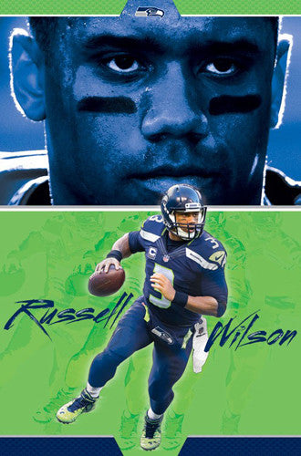 "Russell Wilson ""Field General"" Seattle Seahawks NFL Action Wall Poster - Trends International"