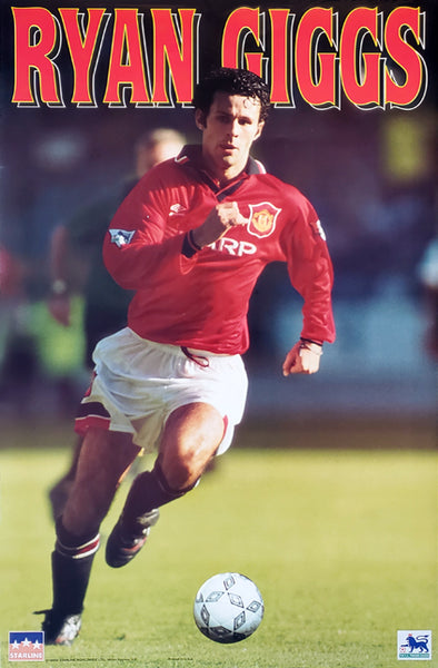 "Ryan Giggs ""Early Action"" Manchester United FC EPL Action Poster - Starline Worldwide 1995"