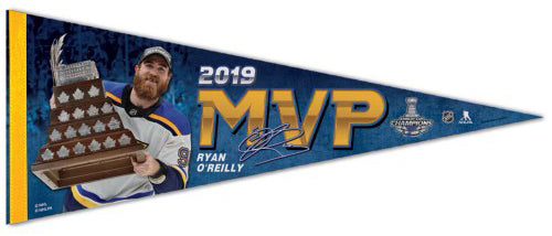 Ryan O'Reilly 2019 Stanley Cup Playoffs MVP St. Louis Blues Premium Felt Collector's Pennant - Wincraft