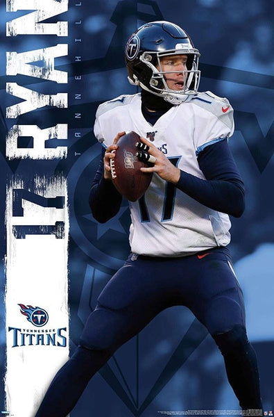 "Ryan Tannehill ""Gunslinger"" Tennessee Titans QB Action NFL Football POSTER - Trends International"