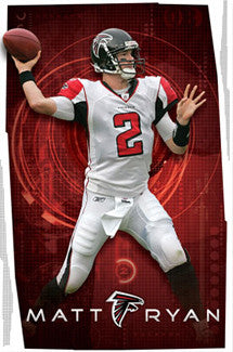 "Matt Ryan ""In the Zone"" Atlanta Falcons Poster - Costacos 2009"