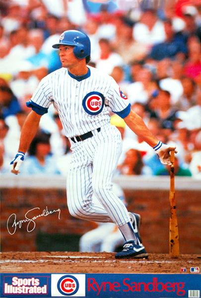 "Ryne Sandberg ""Signature Series"" Chicago Cubs Sports Illustrated Poster - Marketcom 1990"